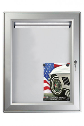 Infobox Magnetic with 2 locks, Postersize 100x150cm, with Fastnote